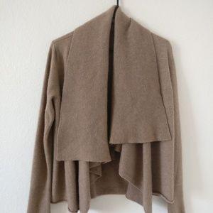 Sweaters - Drape Front Cashmere Cardigan